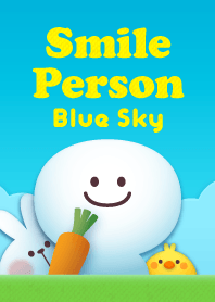 "Smile Person ""Blue Sky..."