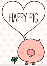 Happy Pig ivory