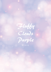 Fluffy Clouds Purple