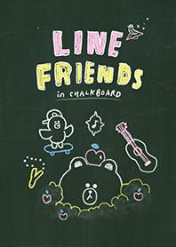 ธีมไลน์ LINE FRIENDS กระดานดำ