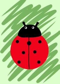 ธีมไลน์ lucky seven-spot ladybird