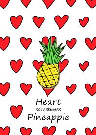 Heart sometimes Pineapple