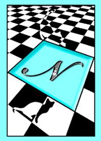 Initial N / Blue cat 2