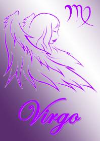 Virgo-lineart purple version