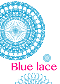 Flowers and lace ribbon - Blue color -