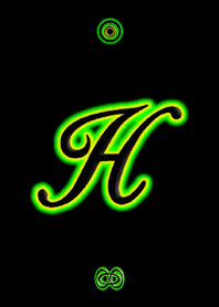 Neon Initial H / Green