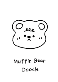 muffin bear doodle