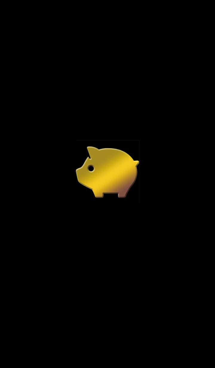 Golden pig..