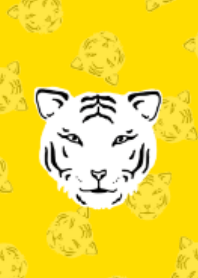 White tiger and yellow