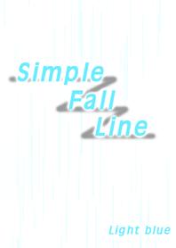 Simple Fall Line (Light blue)