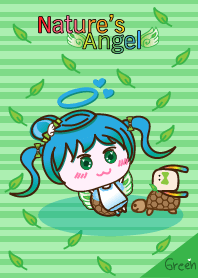 Nature's Angel - Angel Green Slow Life Copyright 2016 AngelTo| elPortale | Sell LINE Sticker, Sell LINE Theme