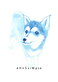 ahns simple_065_blue dog