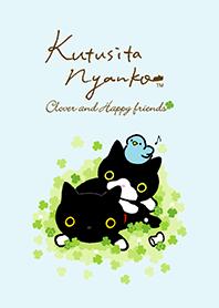 ธีมไลน์ KutsushitaNyanko:โคลเวอร์และแมวซอย