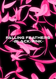 FALLING FEATHERS -BLACK-PINK-