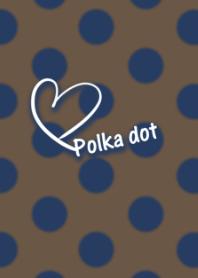 Polka dot -Navy and brown-