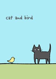 cat & bird