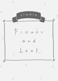 simple Flower and Leaf