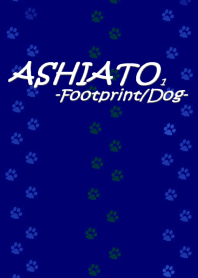 ASHIATO-Footprint Dog- Deep Blue