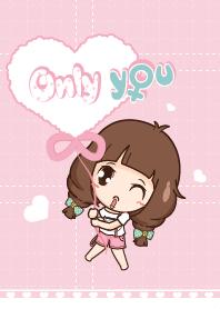 ธีมไลน์ Only you (female)