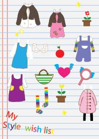 My style wish list v.1