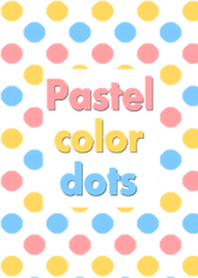 Pastel color dots