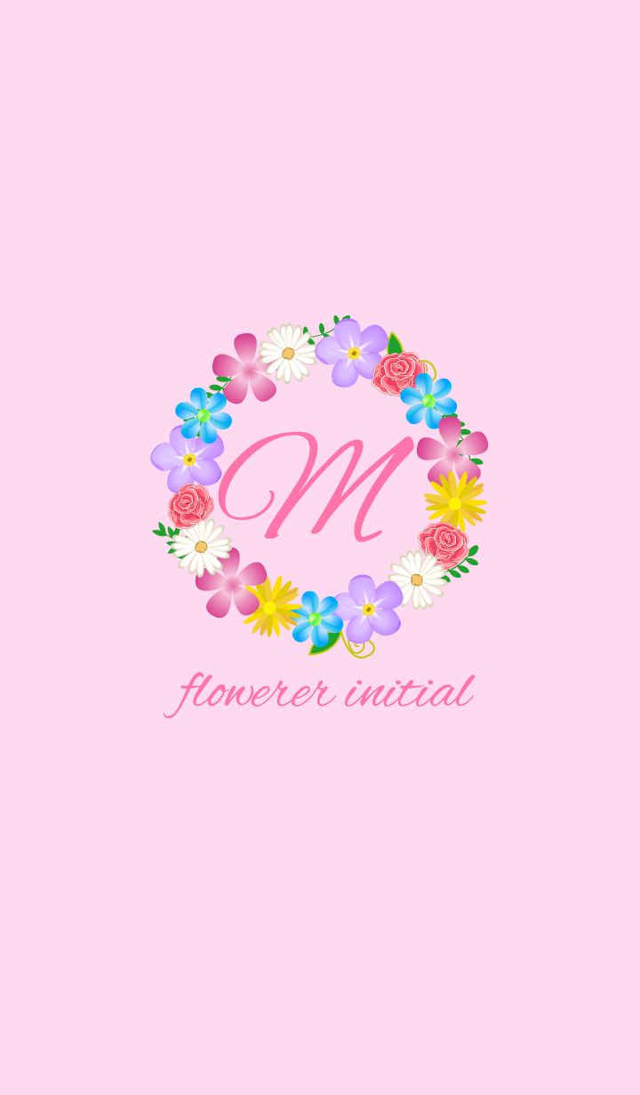 Flower initial -M-