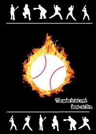 the baseball theme black