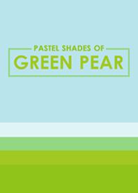 Pastel Shades of Green Pear