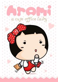 Aromi a cute office lady