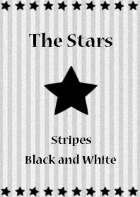 The stars(stripes! black and white)