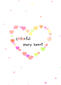 Colorful many heart
