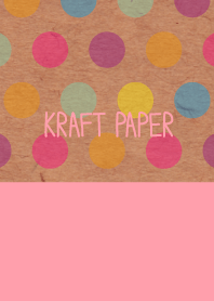 Kraft paper-Colorful dot4-