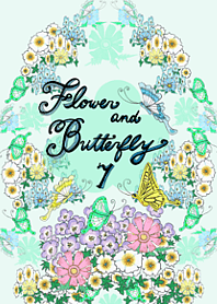 Flower and butterfly 7