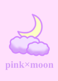 pink and moon