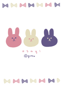 Navy color rabbit.
