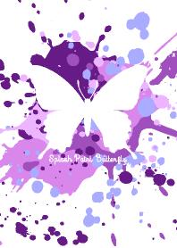 Splash paint Butterfly Purple-White