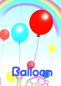 Landscape with balloons