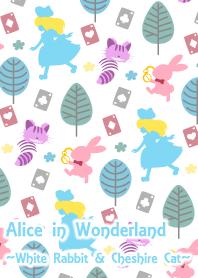 Pattern Alice[White Rabbit & Cheshire]