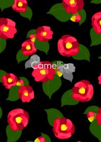 Red camellia -Retro modern-