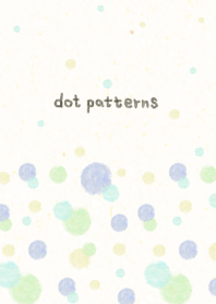 dot pattern24 - watercolor painting-