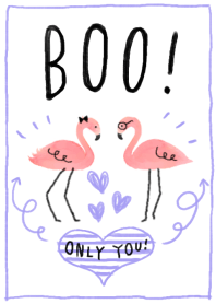 Sweet Flamingo-BOO!-(simple coral pink)