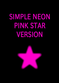 SIMPLE NEON PINK STAR VERSION