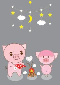 ธีมไลน์ pig pig theme v.2