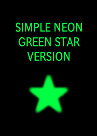 SIMPLE NEON GREEN STAR VERSION